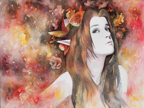 Persephone - portrait of Libby Dowell by katethegreat19