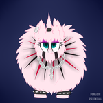 Goth Fluffle Puff by Penguin-Potential