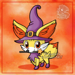 Fennekin the witch by Veemonsito