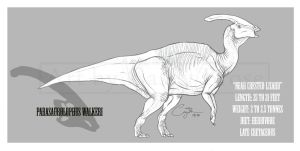 Parasaurolophus walkeri by BlueCea