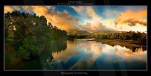 A River Sunset by inventionary