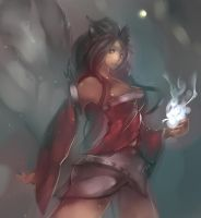 [LOL]Ahri the nine tailed fox by Seuyan