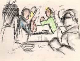 Cafe drawings 3 by Adele-Waldrom