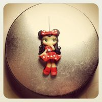 FIMO : doll Minnie Mouse by MilkyWayHandmade