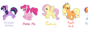 My Little Pony - Mane Six by caycowa