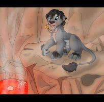Frodo in teh volcano by jessijoke