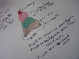 ice cream tiny top hat design - contest entry by Kira-Kat