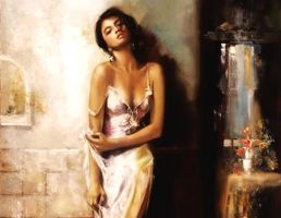 Oil Painting Beautiful Women by MarieJhonson