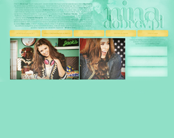 Nina Dobrev Layout by Imfearless