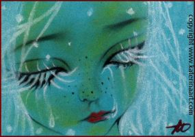 Blue Christmas ACEO SKETCH FEST by Katerina-Art