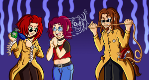 The TK Fiends and their Pal Kate by Reserved-Chuckle
