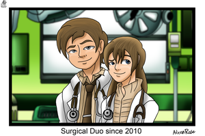 Surgical Duo by Aileen-Rose