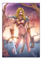 Jenny Poussin Barbarian Colors by AlonsoEspinoza