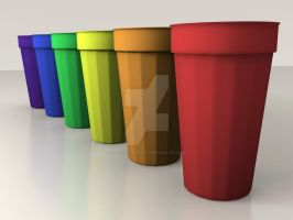 Coloured cups by Undercaffeinated