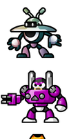 "MegaMan ""Sprites""-Bosses of 9 by WaneBlade"
