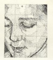 Self Portrait-Pointilism by lyvvie