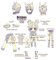 commission -- character sheet Deimos by onisuu