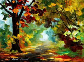 Summer forest by Leonid Afremov by Leonidafremov
