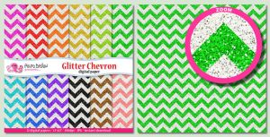 Glitter chevron digital papers by PolpoDesign