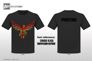 Phoenix T-shirt 2 the colored by denpoy25