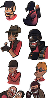TF2- November Drawings by RKPiratedrawer