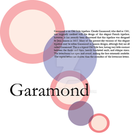 Five Classic Typefaces 1 Garamond by LadyArtist