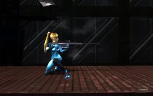 Zero Suit Samus Sniper by darklinksmash