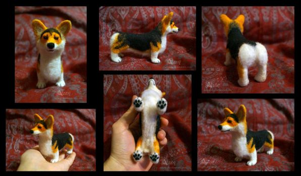 Felted corgi by Azany
