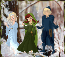 Elsa, Anna, And Kristoff by adkgirlsince01
