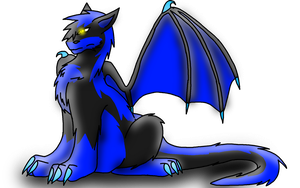 Wolfy-chan as a dragon by WerewolfProtecter