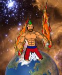 Man punches earth by obiwang