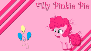 Filly Pinkie Pie Wallpaper by Silentmatten