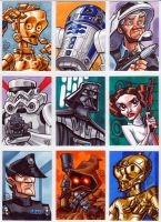Star Wars Sketch Cards part 1 by Chad73