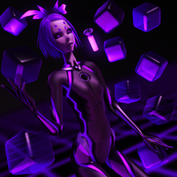 [MMD] Black-purple Rin by Tri-Oxygen-Luka