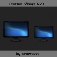 Monitor Icon by Dinomann
