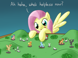 Fluttershy in command by Whatsapokemon