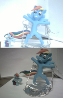 Rainbow Dash Sculpture by EarthenPony