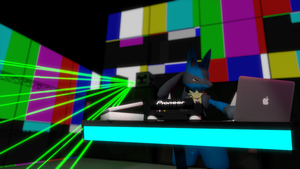 DROP THE BASE stats - Lucario [HD] [3D DOWNLOAD] by TheModerator