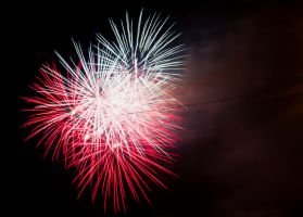 red white and blue firework explosion by Dom410