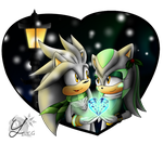 Silver and Starlet: Winter night by EllyTheGee