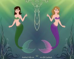 Mermaid Sisters by LadyIlona1984