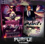 PSD Purple Flyer Bundle - 2in1 by retinathemes