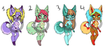 Off colors: adopts sold by Daliande