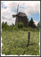 Old windmill on a meadow by Sipramiili