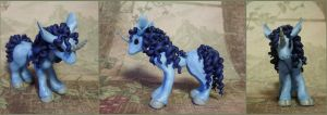 SOLD ~ Light Blue Unicorn Sculpture by LiHy