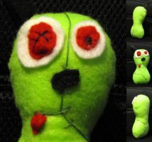 Zombie!Gir from Invader Zim Plushie by rawien