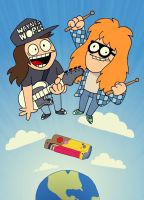 Waynes World / Eddsworld by Knitti