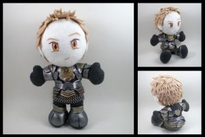 Alistair plushie - Dark Runic armor by eitanya
