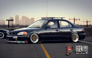 """Stanced"" Honda Civic JDM by CapiDesign"