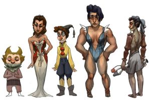 Character designs by Leerer-Raum